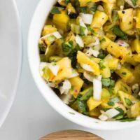 Grilled Pineapple & Jalapeno Salsa