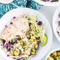 Chile-Lime Fish Taco Bowls with Citrus Crema
