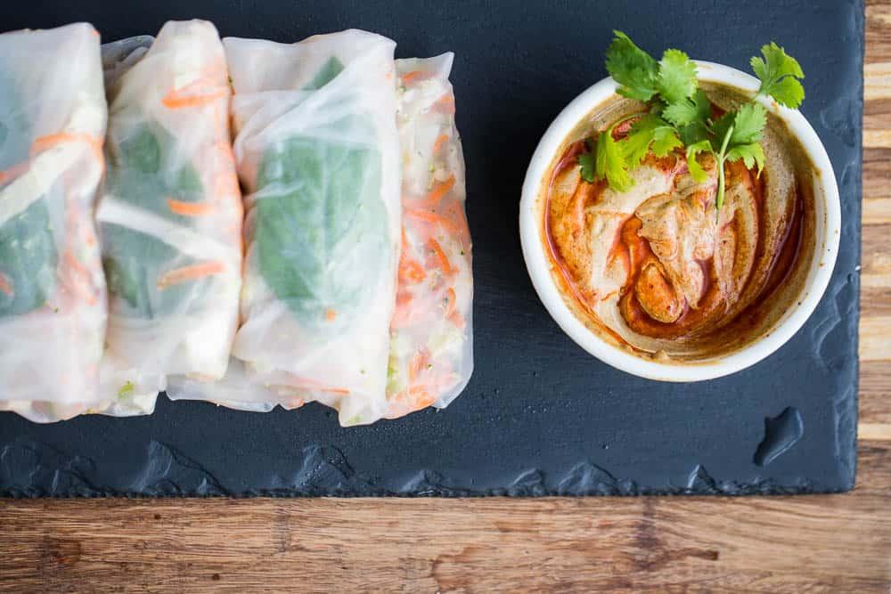 California Pizza Kitchen Thai Chicken Spring Rolls Recipe