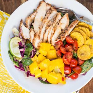Grilled Jerk Chicken and Mango Salad - Perry's Plate