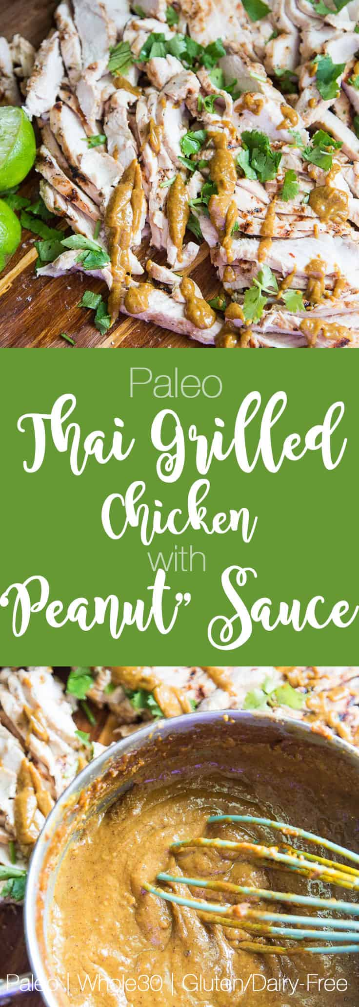 "Easy Thai Grilled Chicken and ""Peanut"" Sauce 