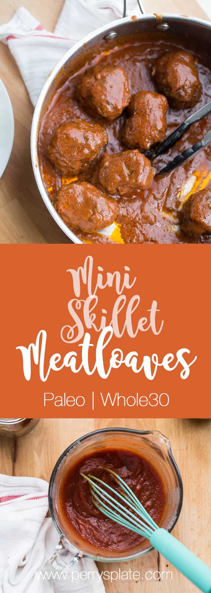 Mini Skillet Meatloaves | Whole30 meatloaf | paleo meatloaf | weeknight dinner recipes | perrysplate.com