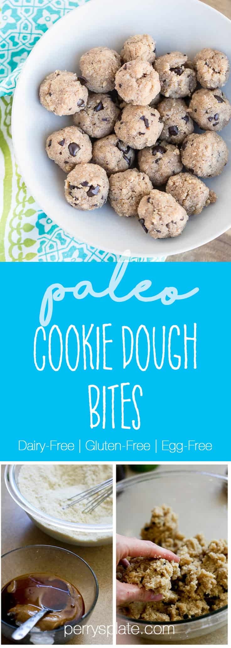 Paleo Cookie Dough Bites | paleo treats | gluten-free recipes | dairy-free recipes | egg-free recipes
