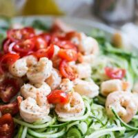 Creamy Greek Shrimp & Cucumber Noodles