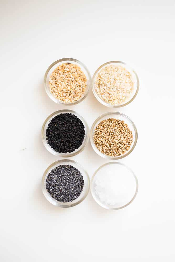 How to Make Everything Bagel Seasoning -- a knock off of the Trader Joe's version! It's so easy to make and once you start sprinkling, you won't be able to stop! | perrysplate.com