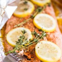 Grilled Cajun Foil-Packet Salmon