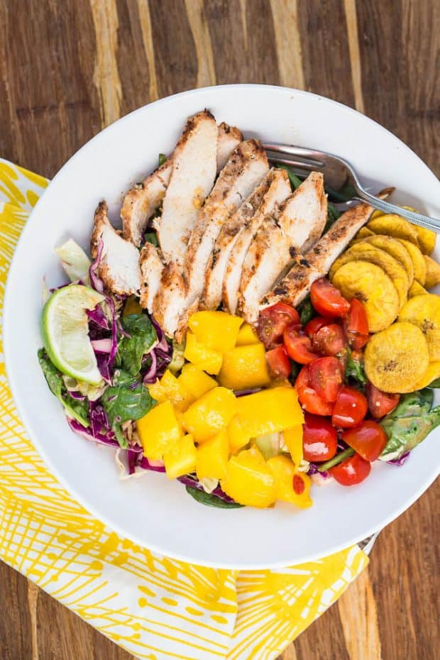 Grilled Jerk Chicken & Mango Bowls are part of this week's paleo meal plan!