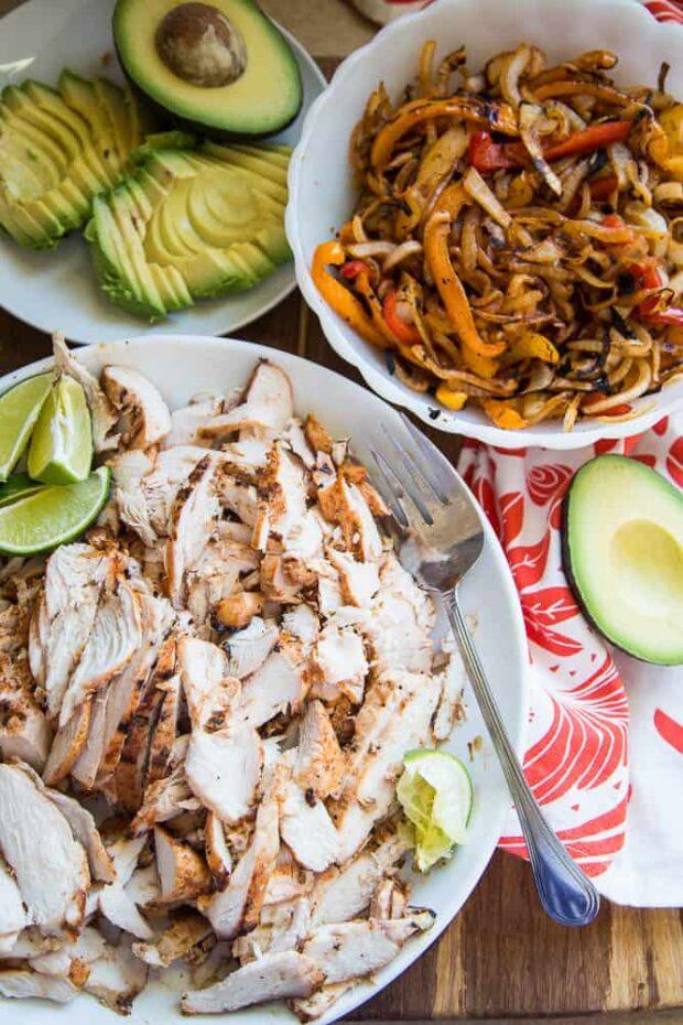 The BEST Chicken Fajitas! Part of this week's FREE Paleo Meal Plan.