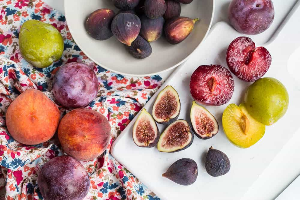 """Grilling fruit is an easy way to make a light, """"fancy"""" dessert. This post shows you how to grill melon, figs, and stone fruit!   perrysplate.com"""