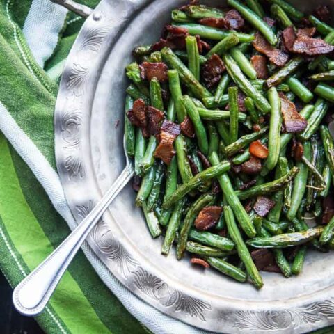 Easy Bacon-Fried Green Beans