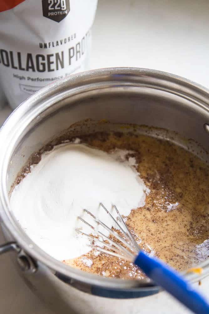 Chai-Spiced Golden Milk with Collagen Protein   dairy free recipes   golden milk recipes   paleo recipes   keto recipes