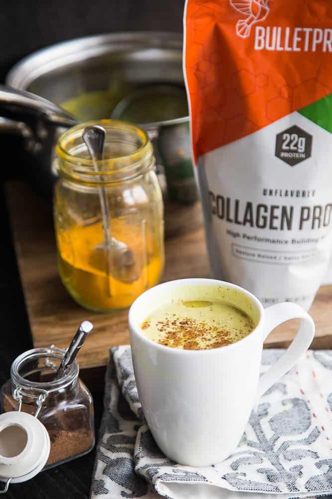 Chai-Spiced Golden Milk with Collagen Protein | dairy free recipes | golden milk recipes | paleo recipes | keto recipes