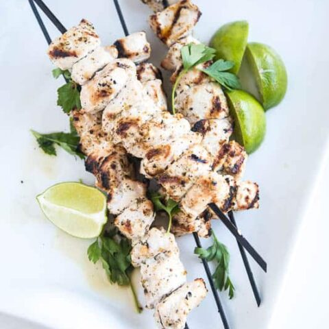 Puerto Rican Marinated Grilled Chicken Kebabs (Pinchos de Pollo)