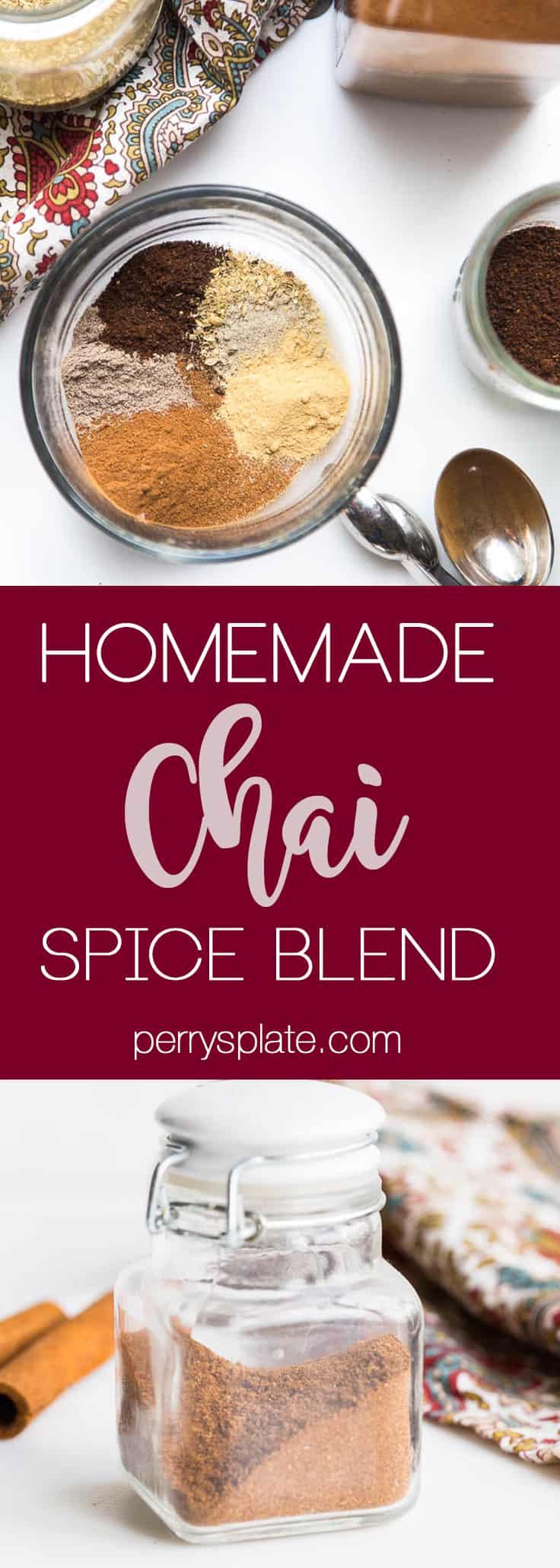 Homemade Chai Spice Blend | chai recipes | spice blends | diy recipes | sugar free recipes | perrysplate.com
