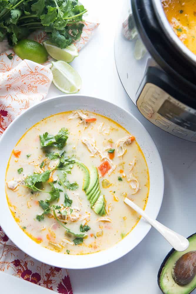 Creamy Southwest Chicken Soup For Instant Pot Perry S Plate