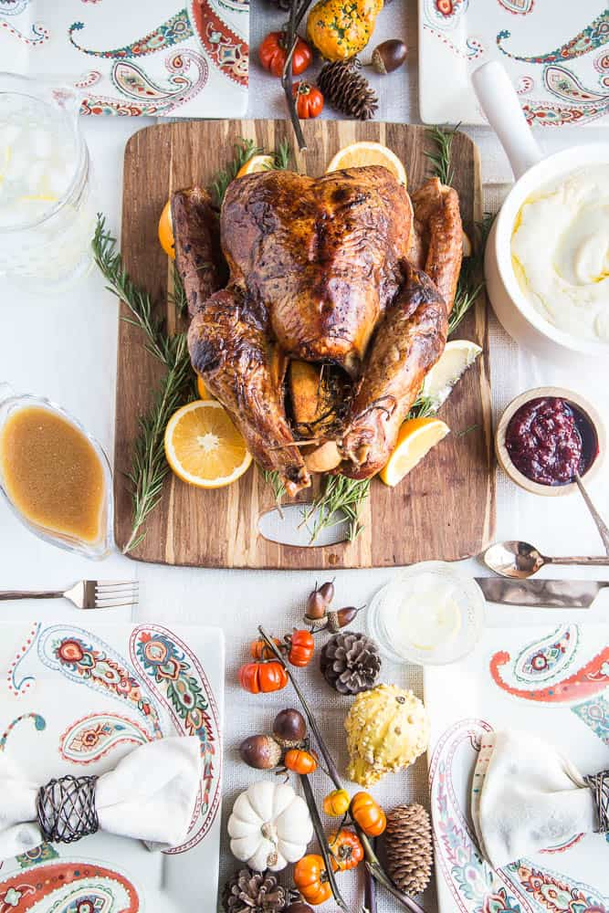 Dry Brine Turkey with Orange-Rosemary Herb Butter | primal recipes | turkey recipes | Thanksgiving recipes | paleo recipes | gluten-free recipes | perrysplate.com
