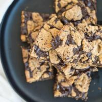 Paleo Chocolate Chip Cookie Fudge Bars