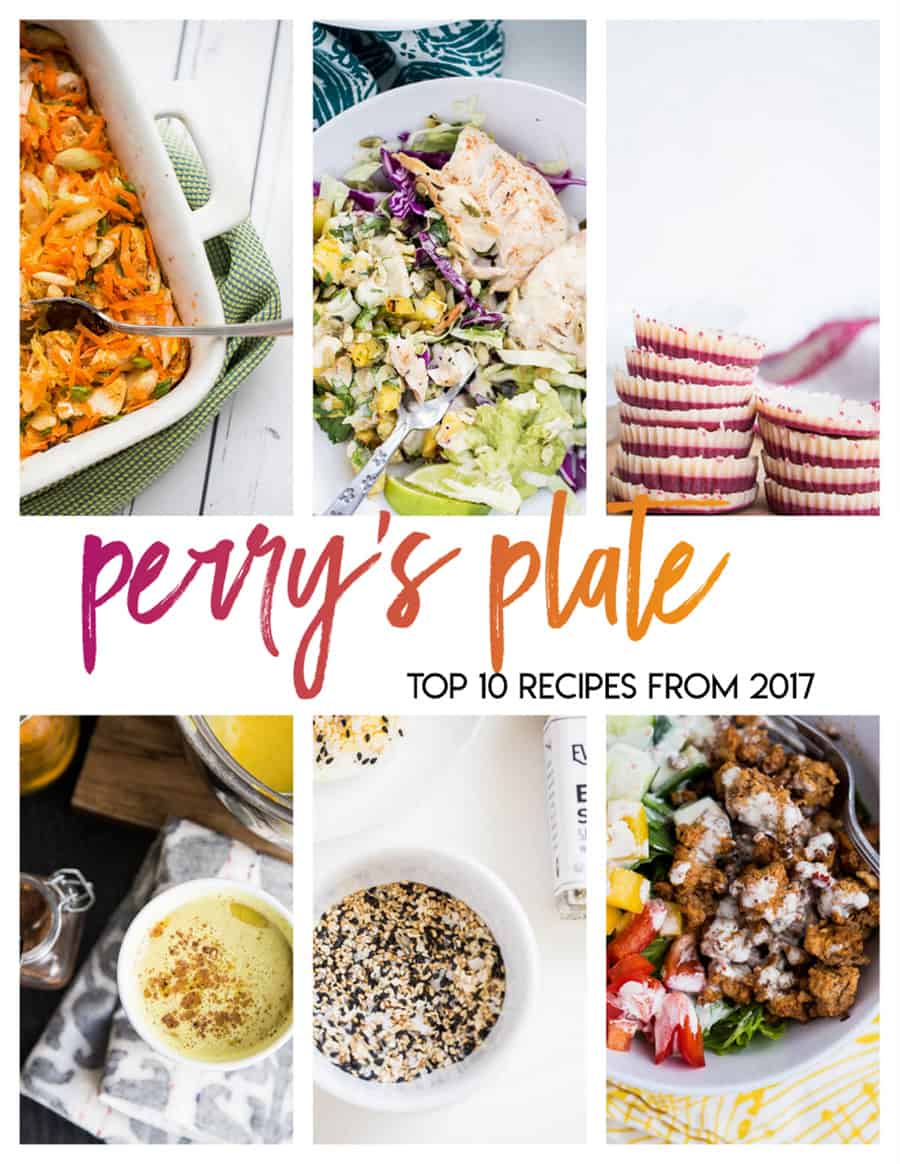 The most popular recipes from 2017 from PerrysPlate.com | Best of 2017 | paleo recipes | gluten-free recipes | keto recipes | Whole30 recipes