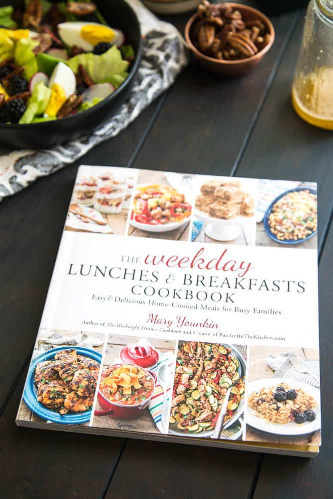 The Weekday Lunches & Breakfasts Cookbook -- Blackberry, Bacon, & Egg Salad with Maple Dijon Vinaigrette | perrysplate.com