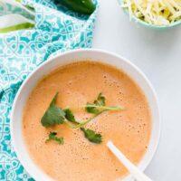 Keto Roasted Tomato Jalapeno Cheddar Soup