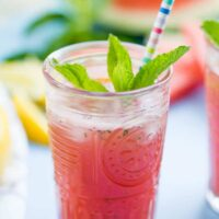 5-Minute Watermelon Lemonade with Mint