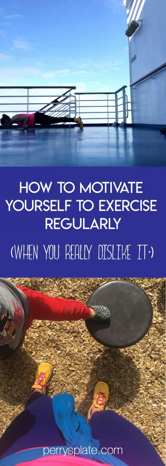 How to Motivate Yourself to Exercise Regularly -- tips on tackling your mind game to create a habit that will get you moving. (And you might even start to like it.) | perrysplate.com