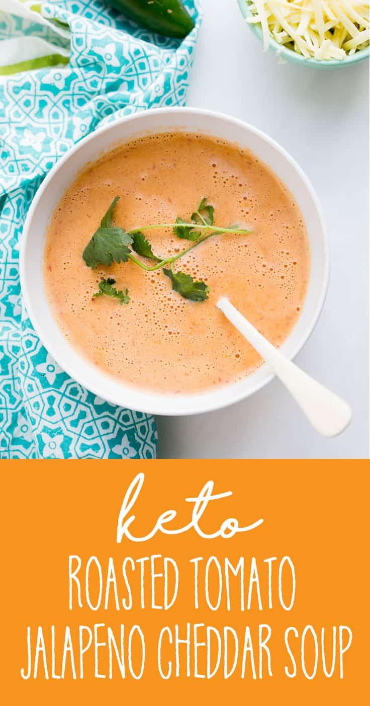 Keto Roasted Jalapeno Cheddar Soup   keto recipes   soup recipes   low-carb recipes   perrsyplate.com