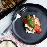 Easy Grilled Eggplant Stacks with Macadamia Ricotta