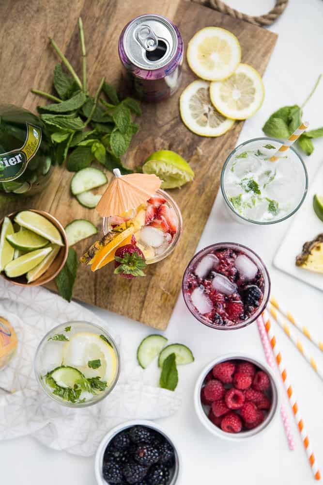 All about Summertime Mocktails! Ideas for refreshing non-alcoholic drinks on perrysplate.com