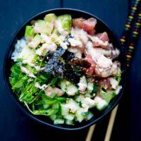Ahi Tuna Poke Bowls with Spicy Mayo