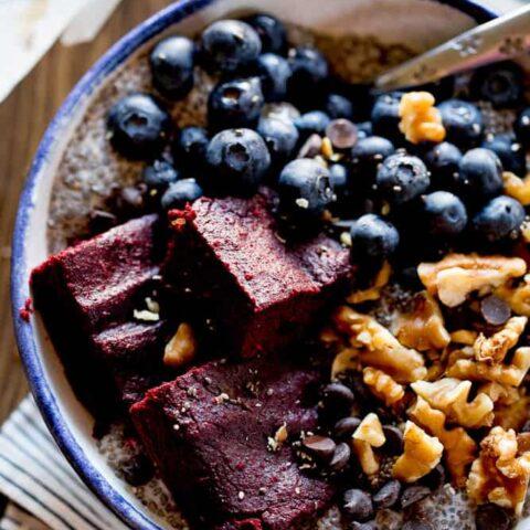 Superfood Beet Brownie Bowls