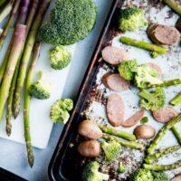 Quick Sausage and Veggie Sheet Pan Meal