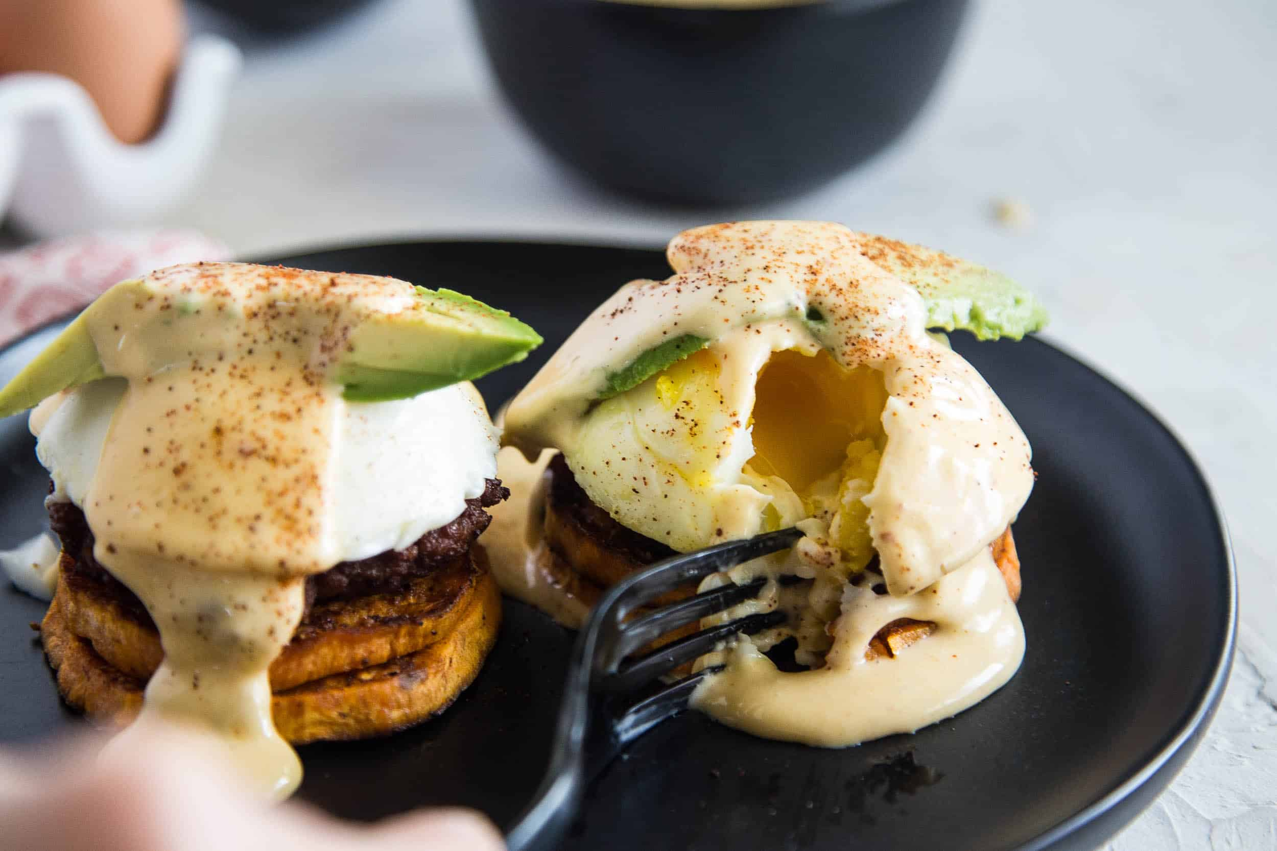 Make some poached eggs in your Instant Pot and make this Southwest Eggs Benedict with Chipotle-Lime Hollandaise. It'll blow your ever loving mind. Promise.