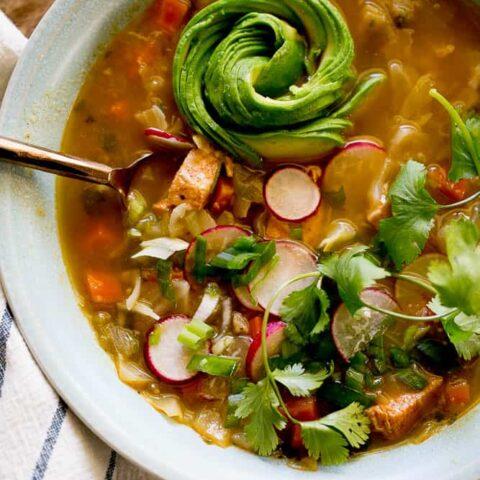 Instant Pot Chicken Tomatillo Soup