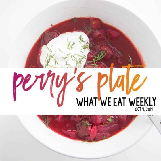 Weekly Healthy Menu Plan from Perry's Plate!