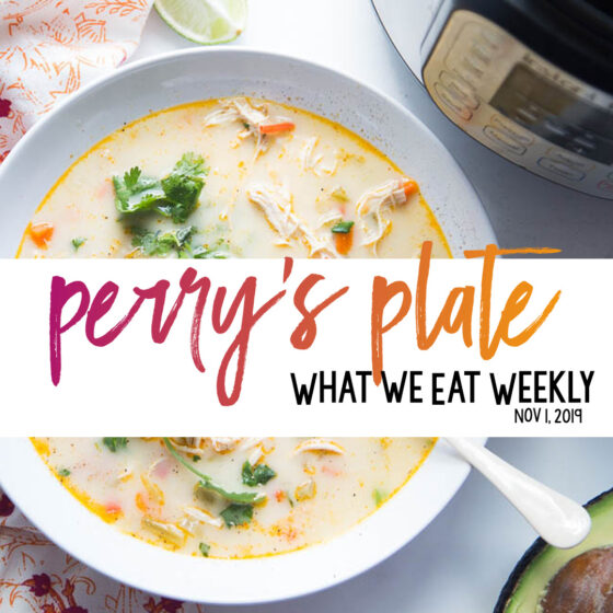 Healthy, family-friendly, seasonal meal plans! Lots of Instant Pot recipes, too. | perrysplate.com #instantpotrecipes #weeklymenu #mealplan