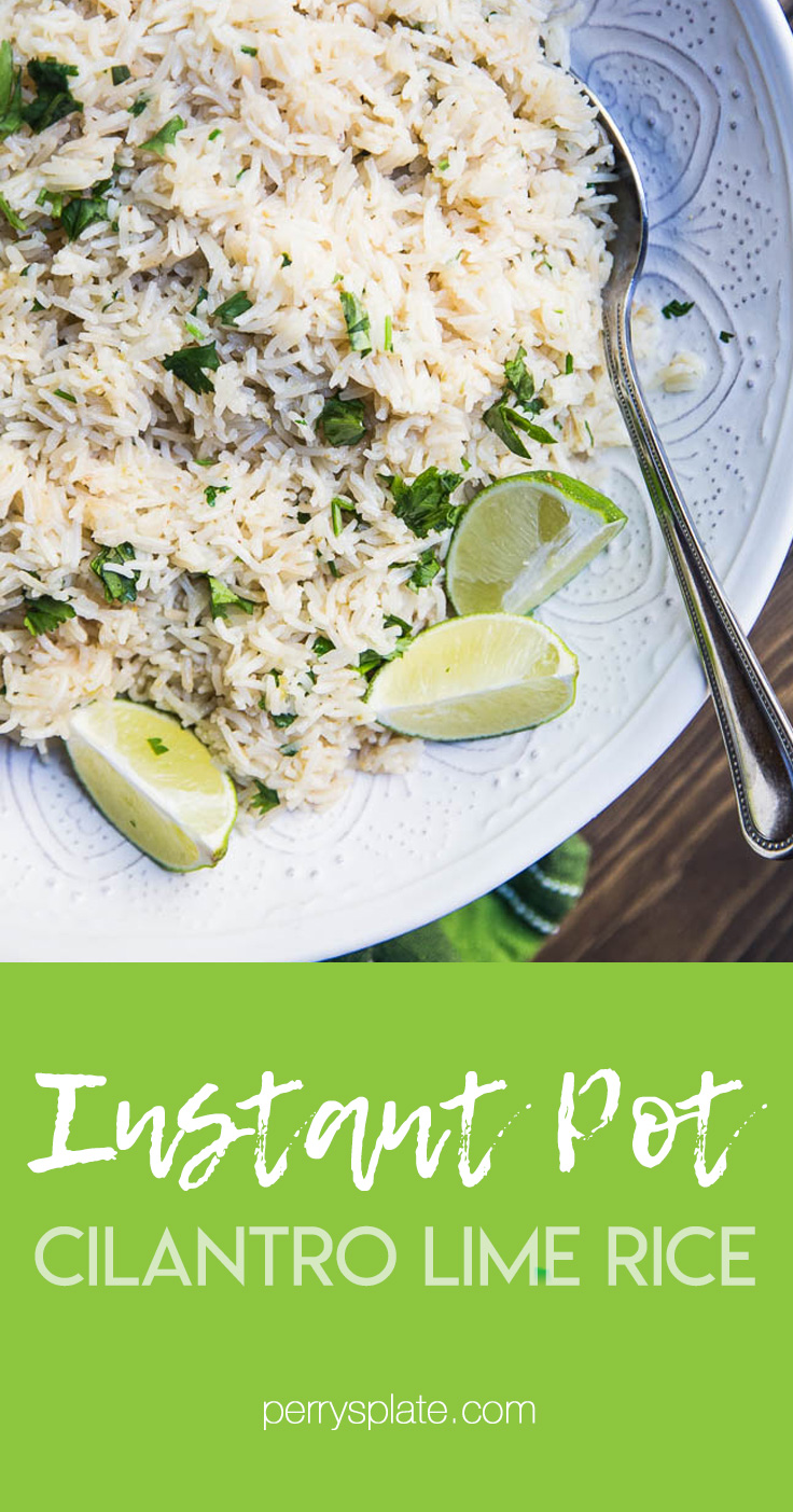 Cafe Rio or Costa Vida Cilantro Rice Copycat -- For Instant Pot! | PerrysPlate.com #instantpotrecipes #instantpot #instapot