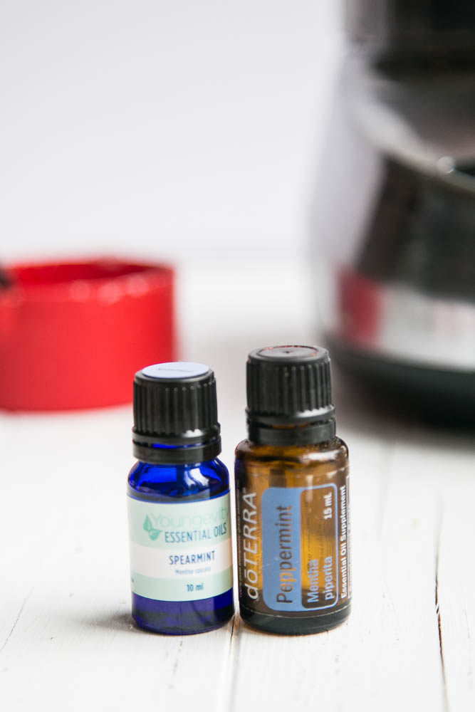 Peppermint oil for Homemade Candy Cane Scrub