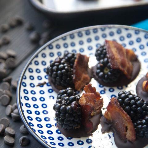 Blackberry Bacon Bark Bites