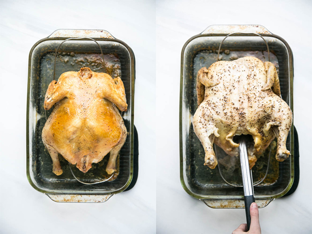 Does handling a whole chicken freak you out? Here's a tutorial that will show you step by step how easy it can be! | perrysplate.com #roastchicken #rotisseriechicken