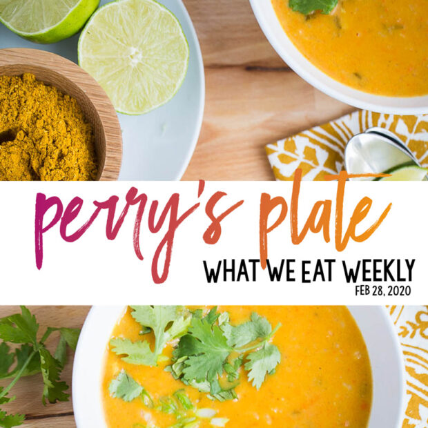 Our weekly menu plan! You'll find mostly gluten and grain-free recipes that are family friendly and easy to make on a weeknight. | perrysplate.com #mealplan #mealplanning #menuplan