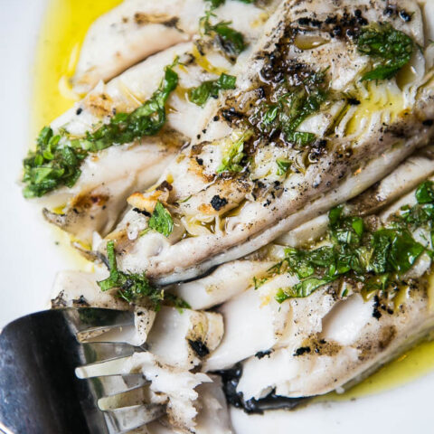 Grilled Sablefish with Garlic-Herb Oil