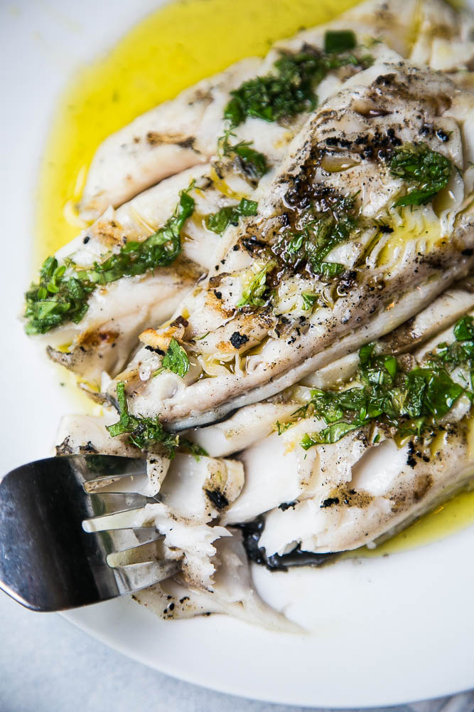 Grilled fish is a summertime staple for quick meals around here. If you've never had rich, buttery sablefish (black cod), try some! | perrysplate.com #grilledfish #grilling #wildcaught