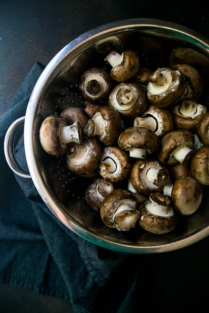 I love using brown mushrooms for roasting! Roasted mushrooms are a delicious, versatile side that add spunk to your meal.