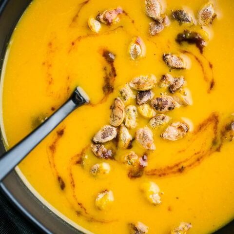 Easy Chipotle Lime Squash Soup