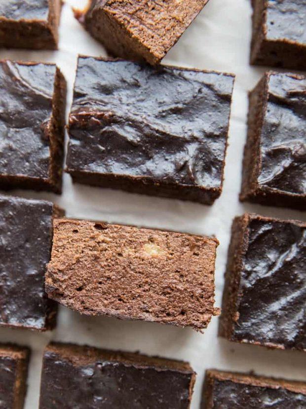 4-ingredient Flourless Healthy Brownies -- easy treat!