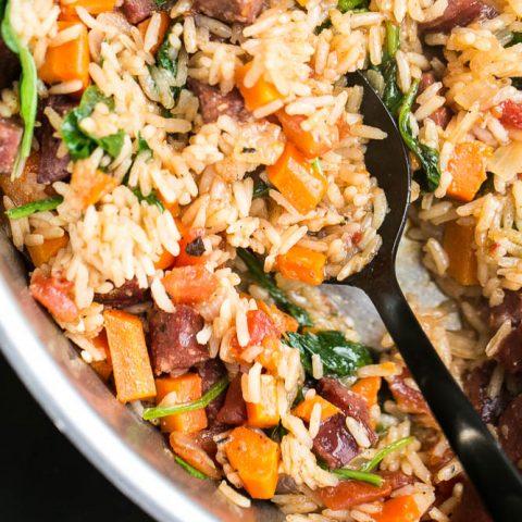 Easy Cajun Sausage & Rice Skillet
