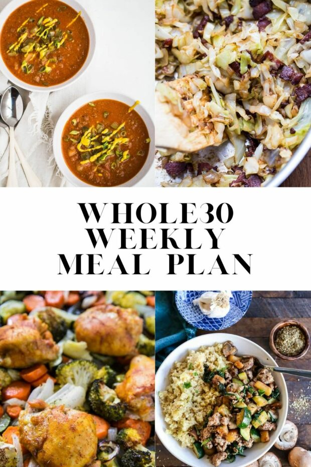 Whole30 meal plan! Also paleo friendly and can be adapted to low-carb/keto.