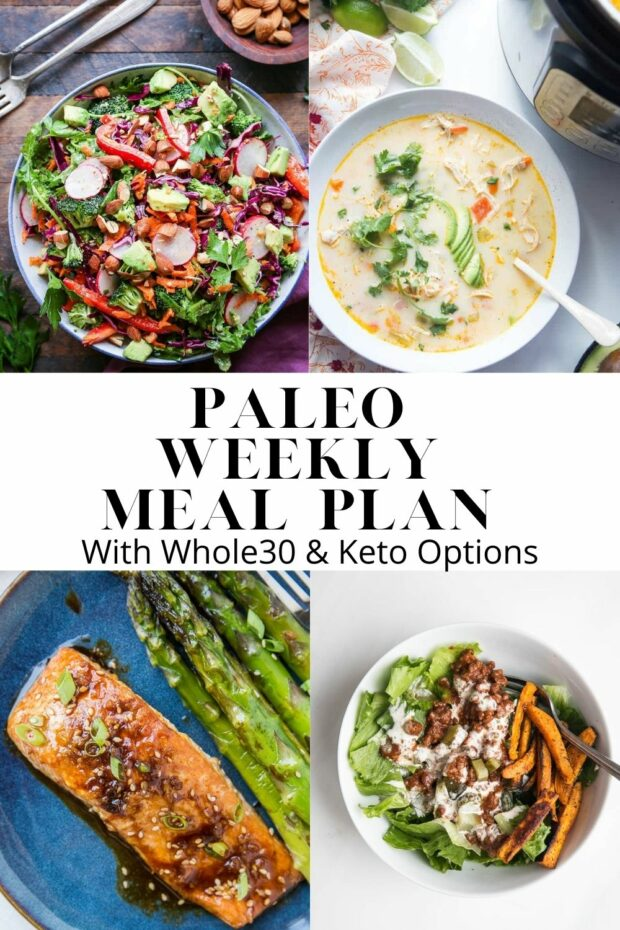 Paleo meal plan with lots of bold flavors and bright colors! Seasonal recipes perfect for winter.