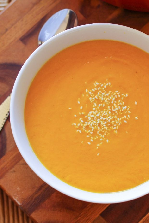 Creamy Carrot Soup - part of the Whole30 meal plan for this week